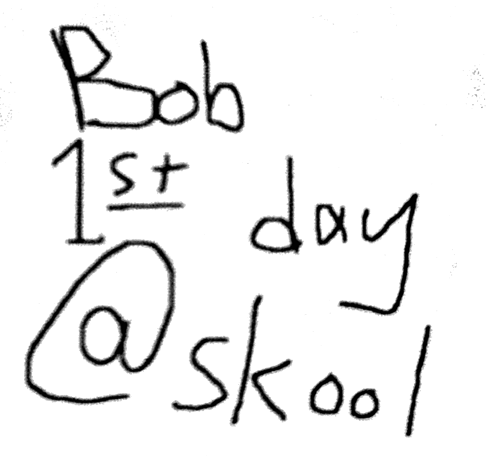 Bob 1st day @ school Cover