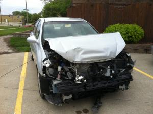 Totaled Kia Spectra