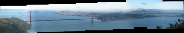 Golden Gate Bridge Pano by Autostitch