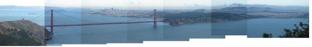 Golden Gate Bridge Pano by Hand